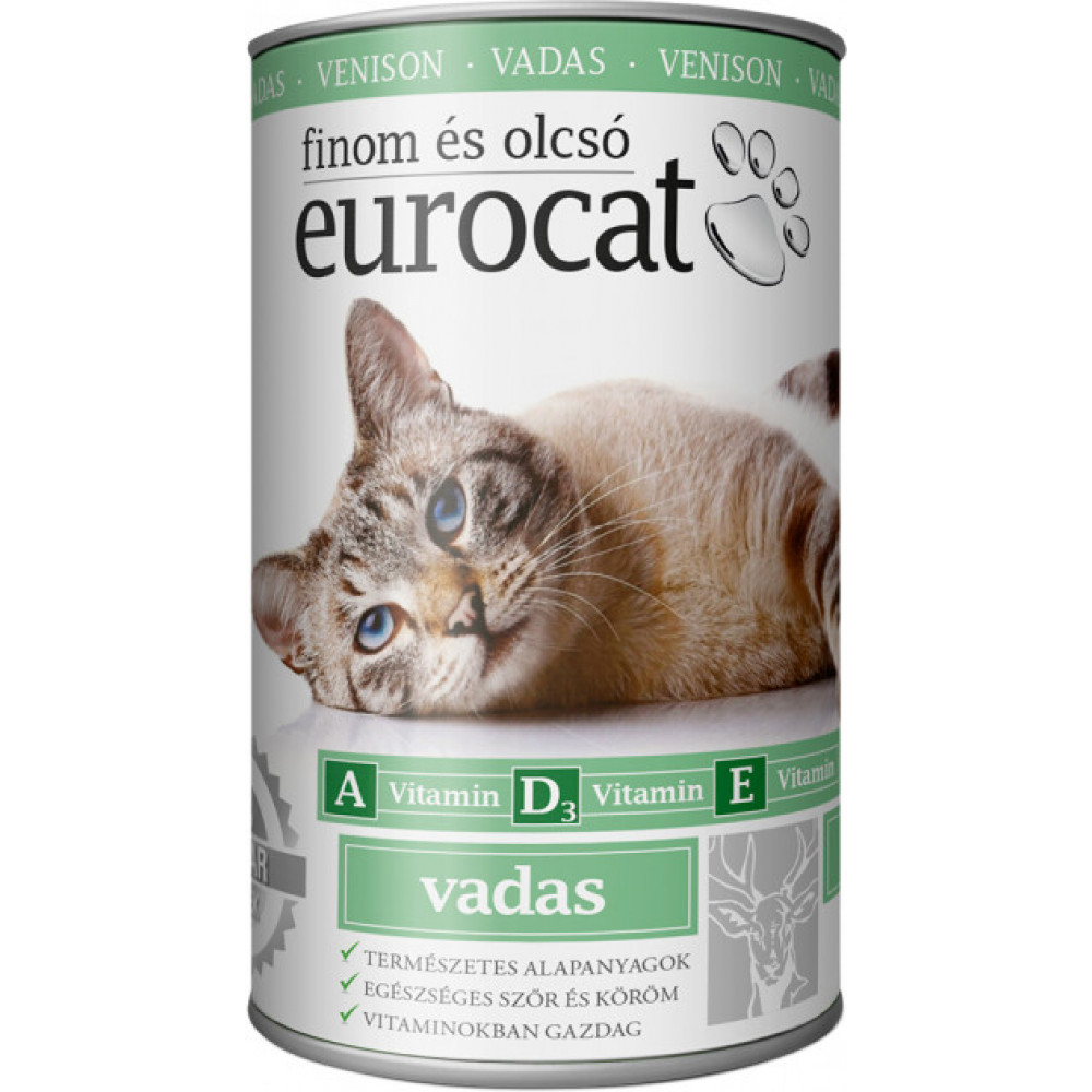 EuroCat консервы для кошек со вкусом дичи (оленина) 415г