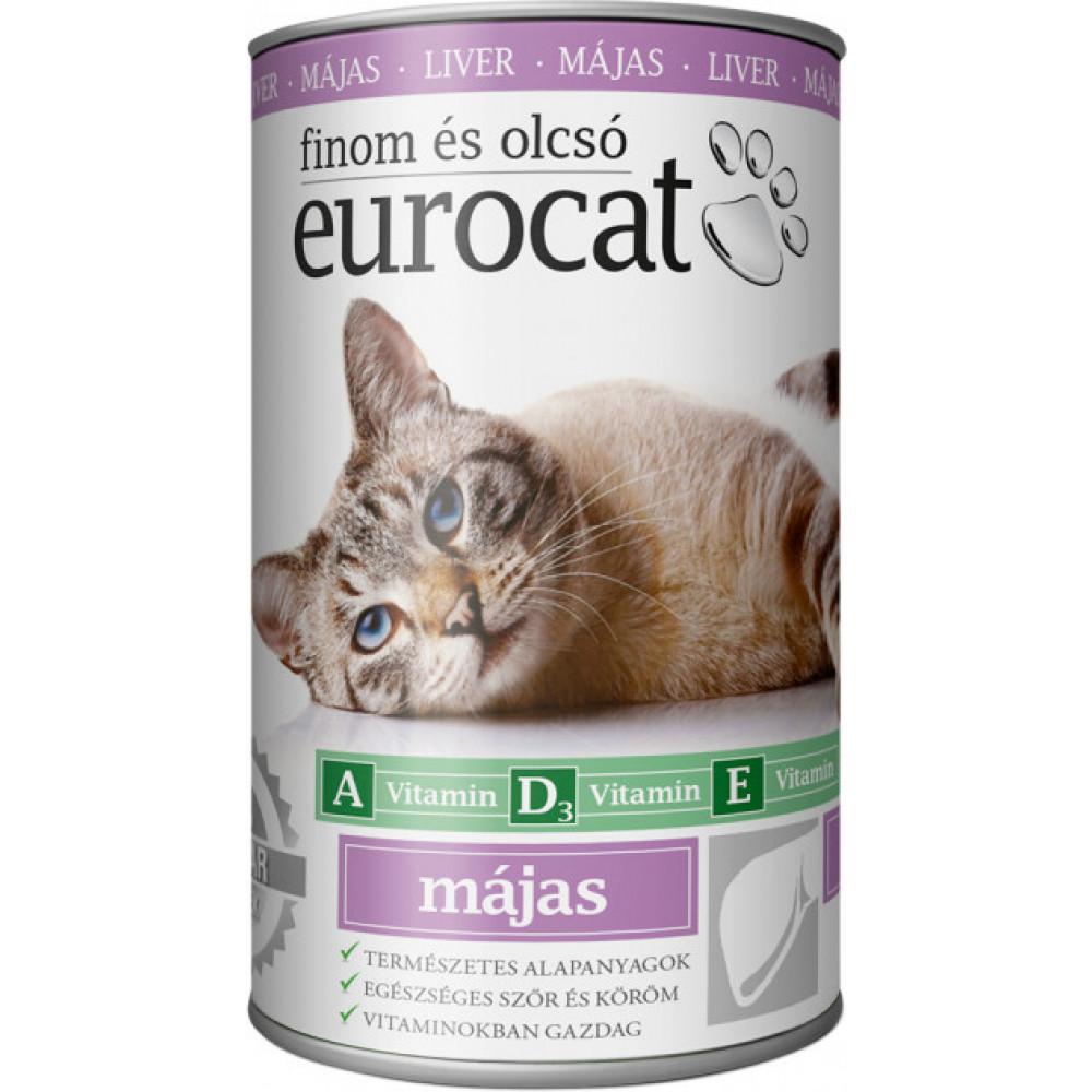 EuroCat консервы для кошек со вкусом печени 415г