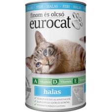 EuroCat консервы для кошек со вкусом рыбы 415г