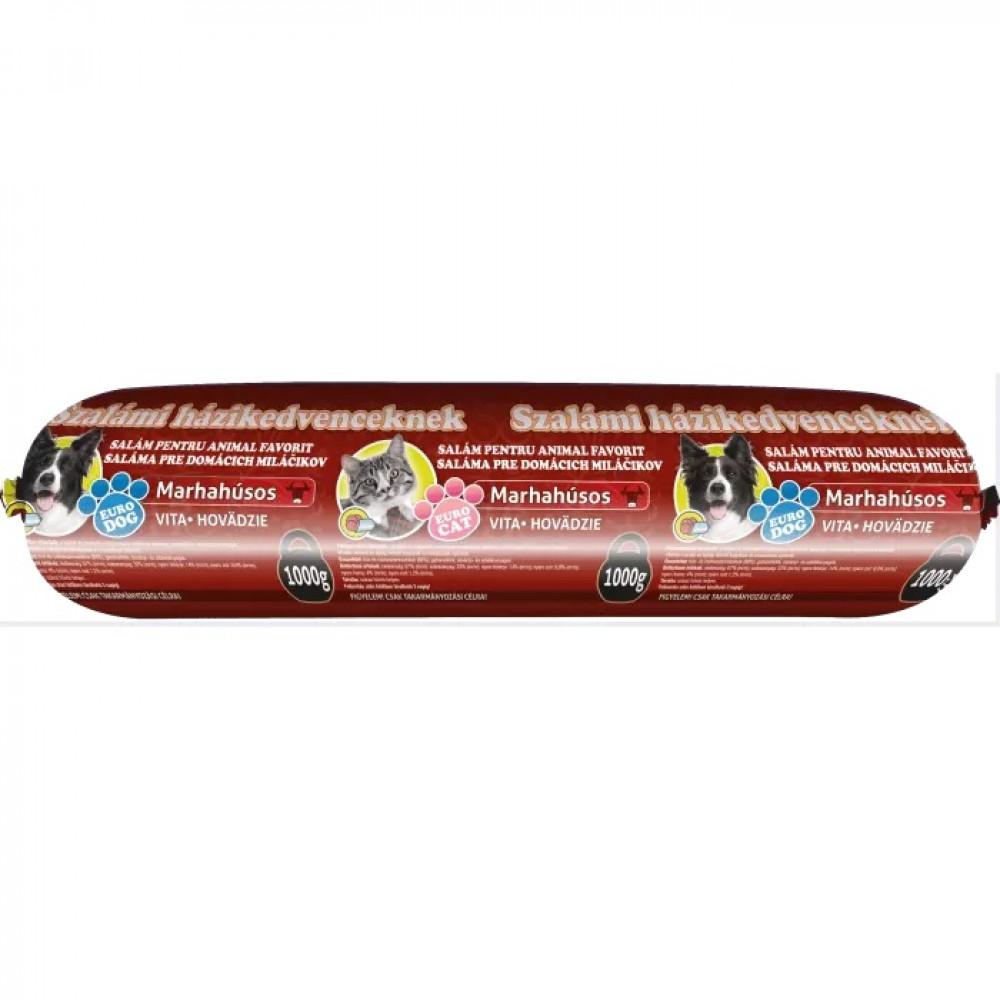 EuroPet салями для кошек и собак со вкусом ветчины 1кг