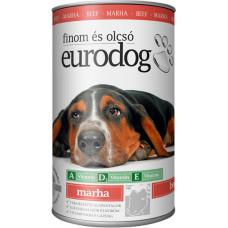 EuroDog консервы для собак со вкусом говядины 415г