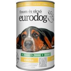 EuroDog консервы для собак со вкусом курицы 415г
