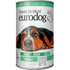 EuroDog консервы для собак со вкусом дичи (оленина) 1240г