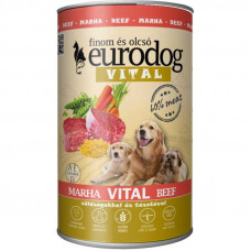 EuroDog VITAL Premium, консервы для собак со вкусом телятины 1240г