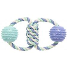 Игрушка GimDog Дент Плюс два кольца с веревки с термопластичной резиной 21см