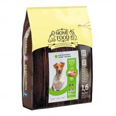 Home Food Dog Adult cухой корм для взрослых активных собак и юниоров малых пород ягненок с рисом