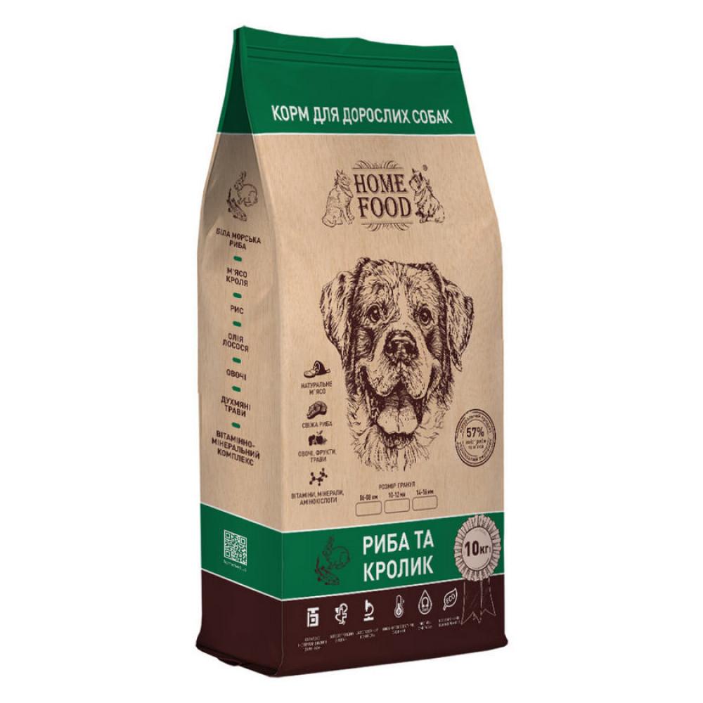 Home Food корм для собак средних пород с рыбой и кроликом 10 кг