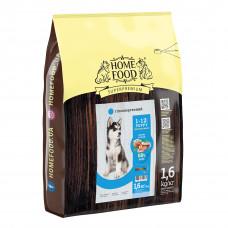 Home Food Puppy Medium Maxi гипоаллергенный сухой корм для щенков средних и крупных пород форель с рисом