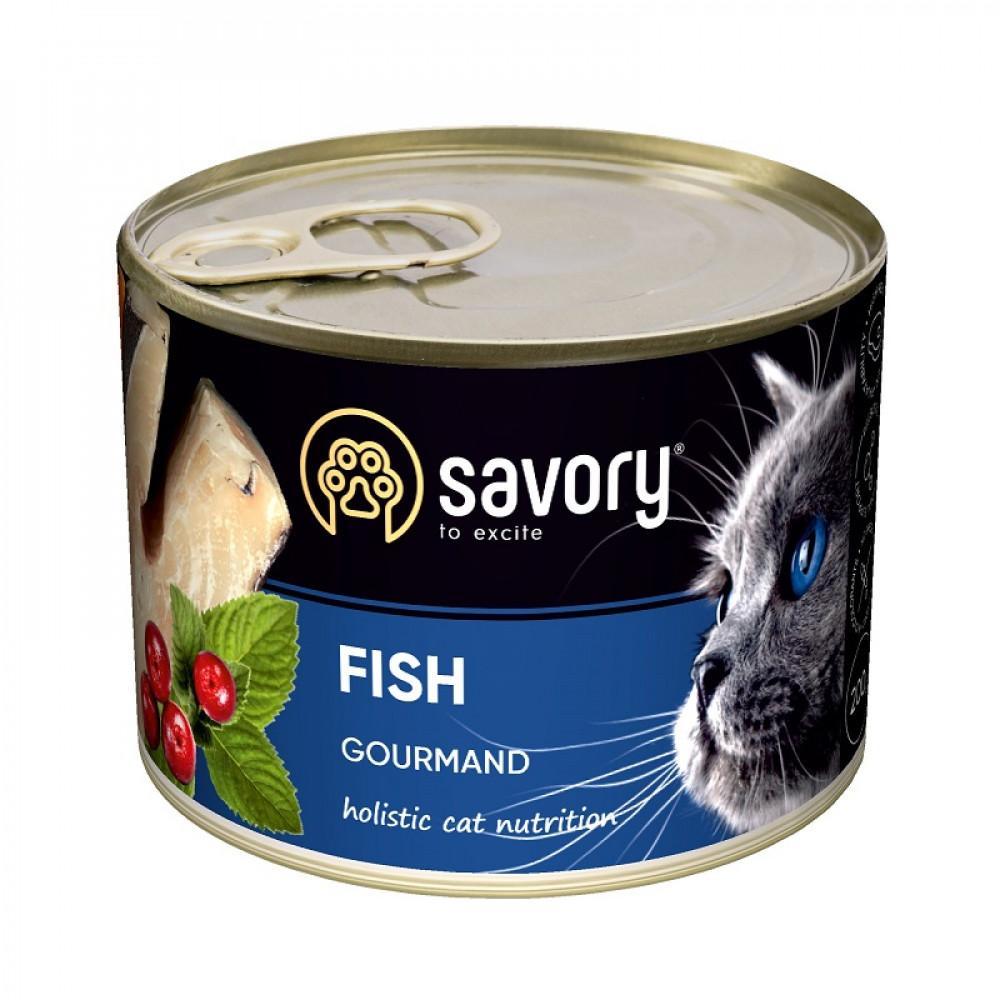 Влажный корм для котов Savory с рыбой