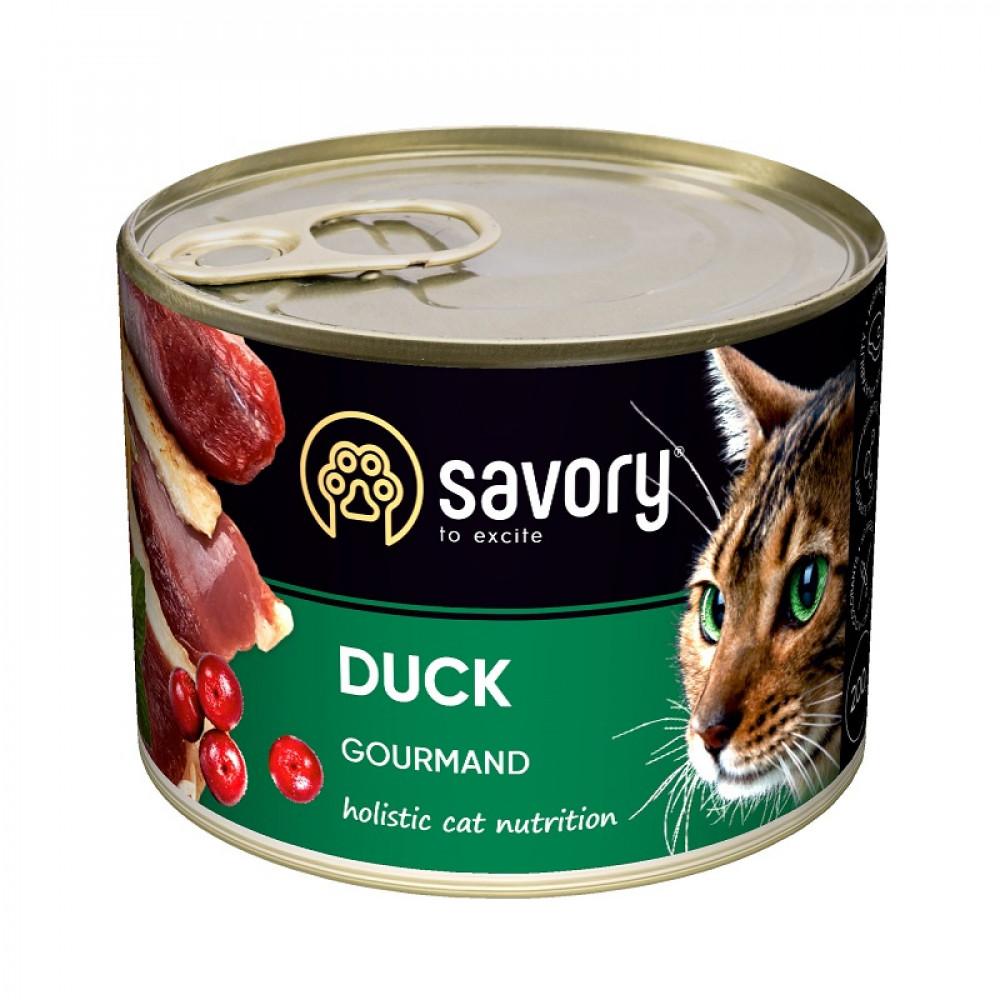 Влажный корм для котов Savory с уткой