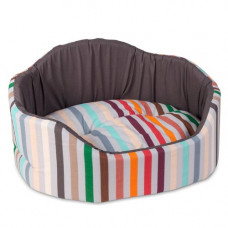 Лежак для собак Coral коричневый