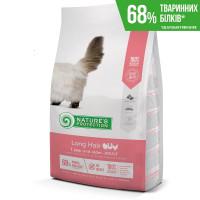 Nature's Protection Long hair сухой корм для взрослых кошек с длинной шерстью с мясом птицы