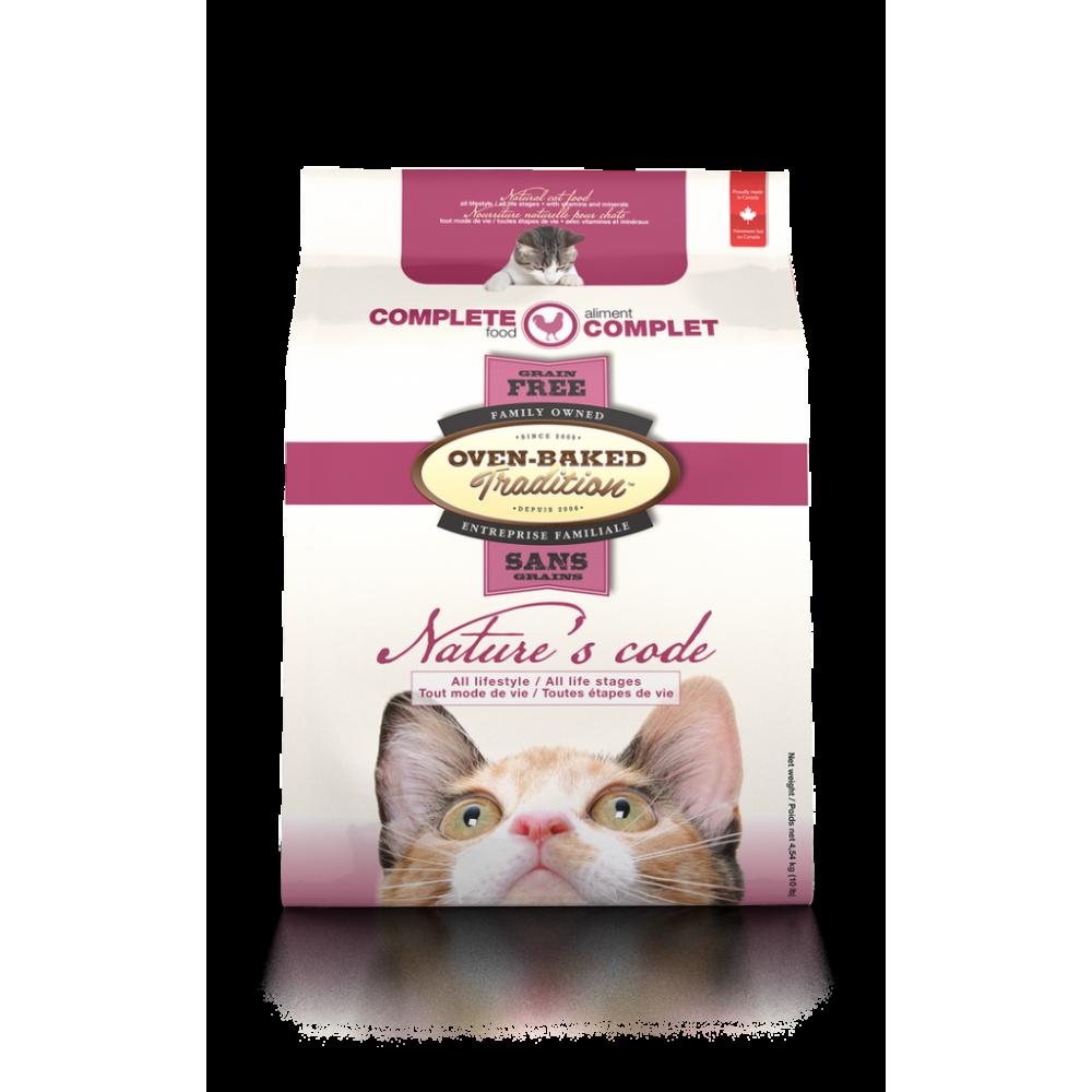 Oven-Baked Nature's Code беззерновой сухой корм для кошек с мясом курицы
