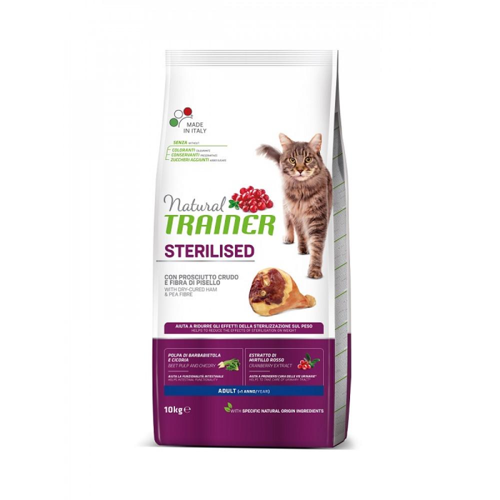 Trainer Natural Adult Sterilised with dry-cured ham сухой корм для стерилизованных кошек с ветчиной