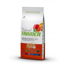Trainer Natural Adult Medium Con Pollo Fresco, Riso & Aloe Vera для взрослых собак средних пород