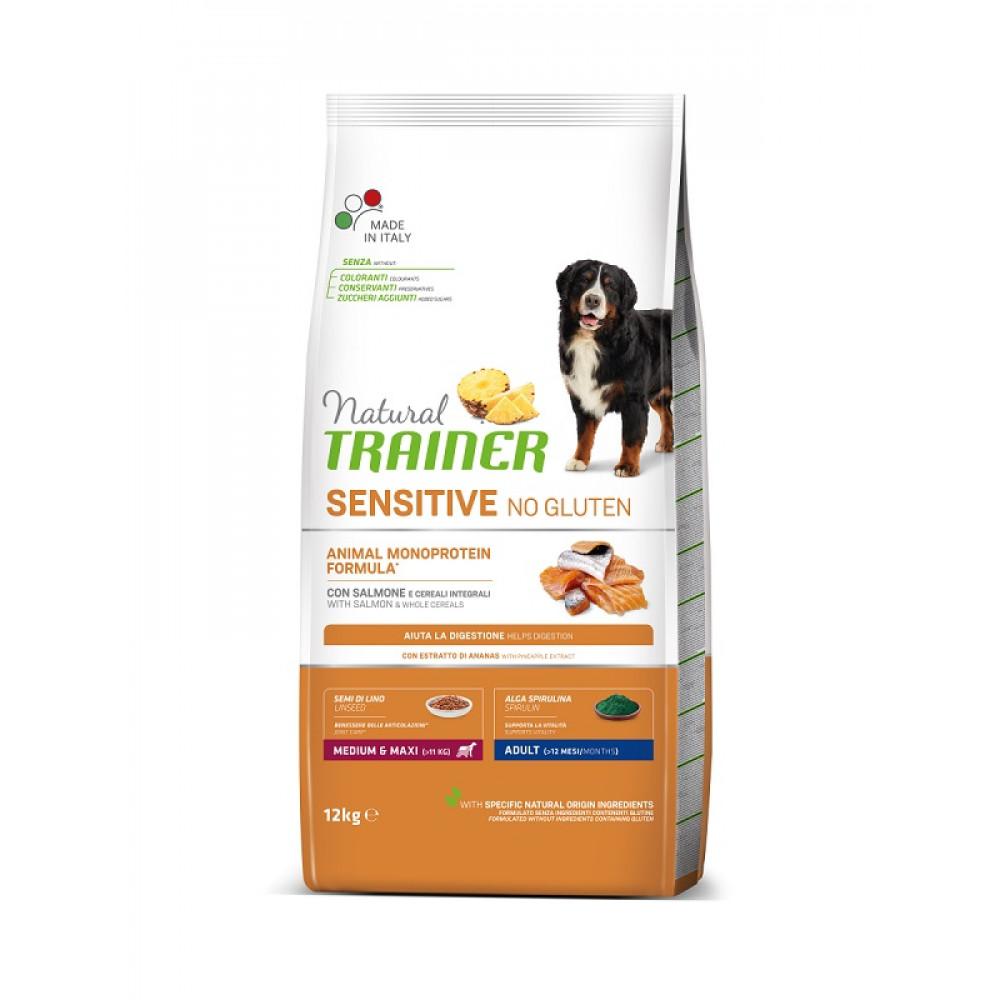 Natural Trainer Dog Sensitive Adult Medium&Maxi With Salmon корм для собак средних и крупных пород с лососем