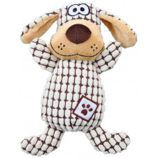 Мягкая игрушка для собак Trixie Собака клетчатая плюш/ткань 26см
